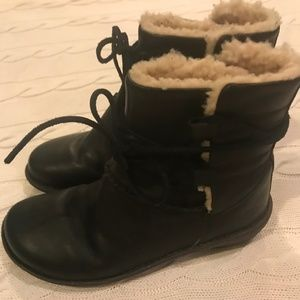 Leather and Shearling Ugg Boots